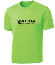 Load image into Gallery viewer, Goalie Short Sleeve Performance Tee / Neon Green / VB Futsal