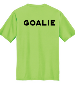 Goalie Short Sleeve Performance Tee / Neon Green / VB Futsal