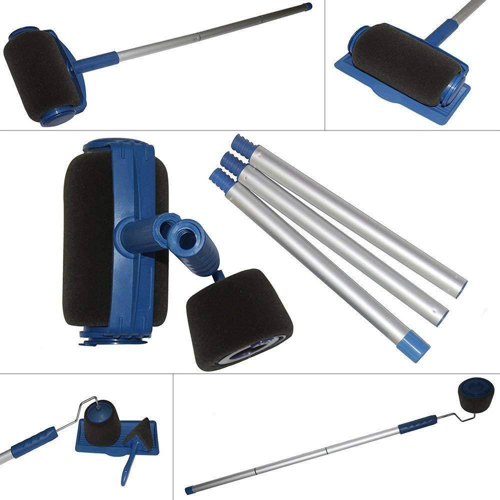 8-Piece No Mess Indoor/Outdoor Paint and Stain Roller Brush  FREE GIFT  Included-Extender Pole!