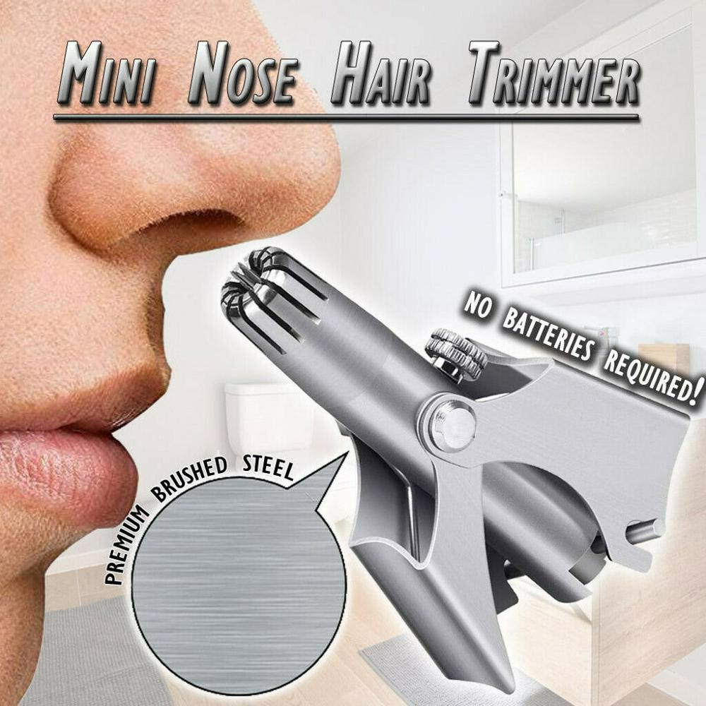 New Stainless Steel Manual Nose Trimmer