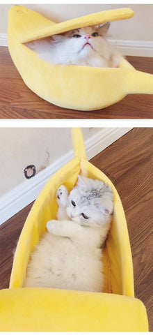 Image of Banana Peel Cat House, Cute Looking Banana Bed for Cats and Kittens