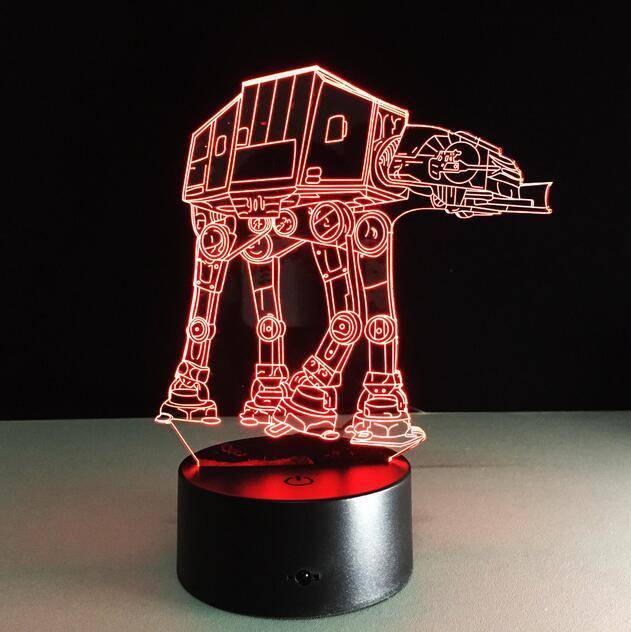 3D Led Illusion Lamp Star Wars Night Light