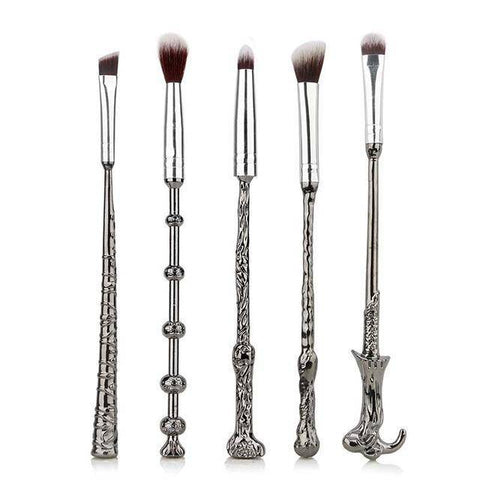 5 Piece Harry Potter Magic Wands Makeup Brush Set