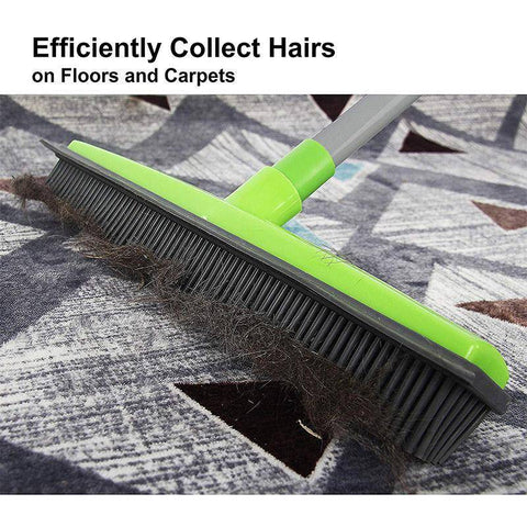 Rubber Push Broom-Great for Catching Stubborn Pet Hair!