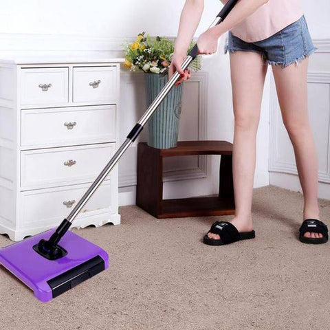3 Brushes Carpet Sweeper No Electricity or Batteries Needed! Choose from 2 Different Colors!