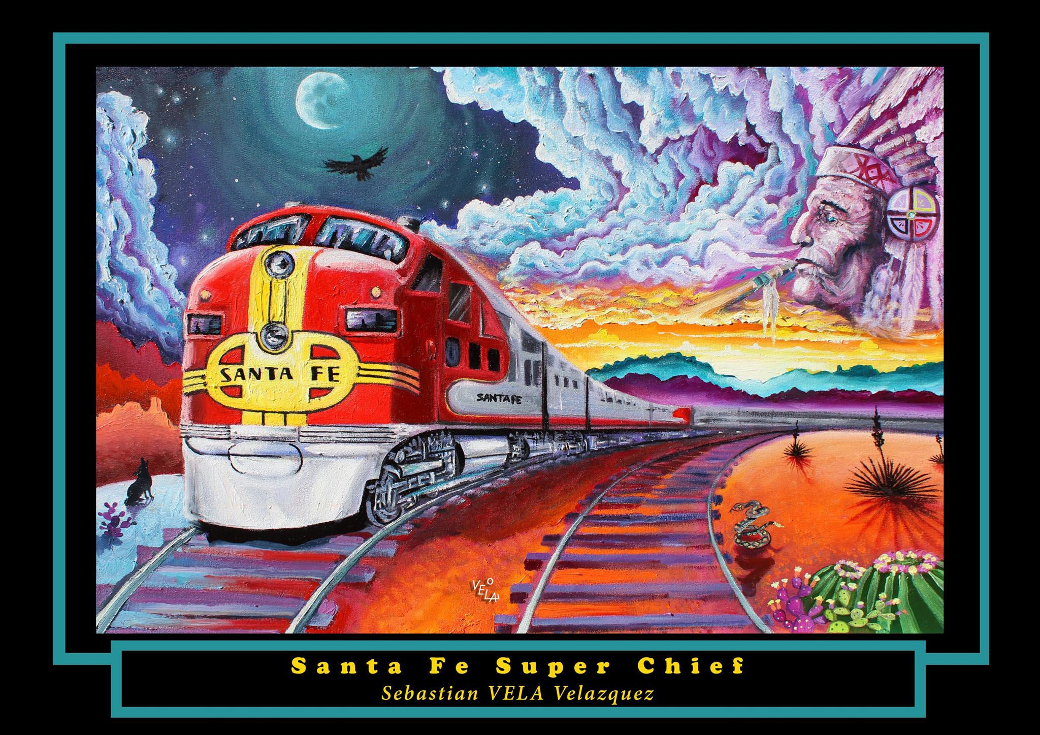 Santa Fe Super Chief Poster Print