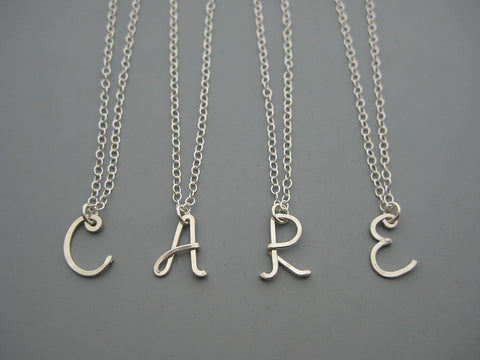 1 Uppercase Initial Necklace