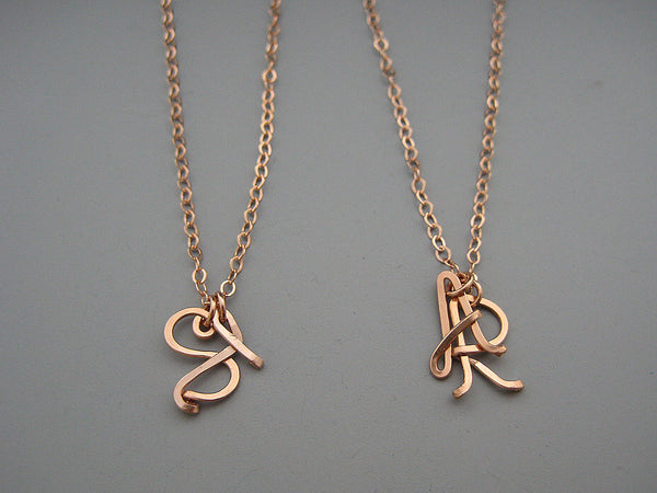 2 Uppercase Initial Necklace