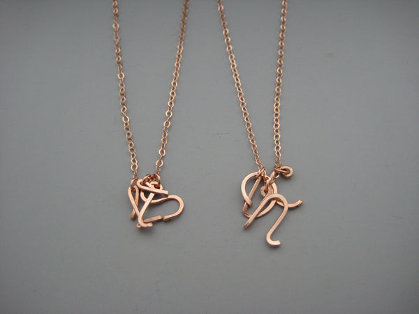 3 Uppercase Initial Necklace