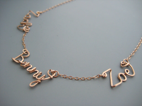Three Name Necklace