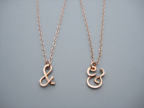 Ampersand Symbol Necklace