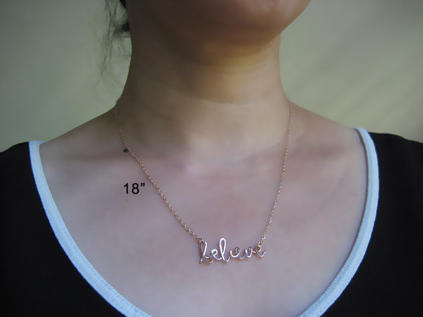 Believe Word Necklace