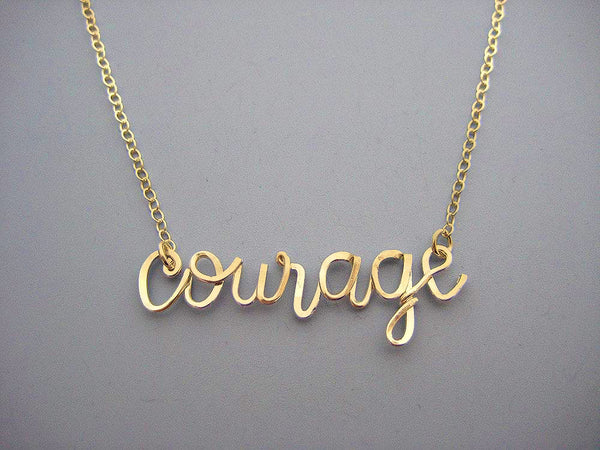Courage Word Necklace