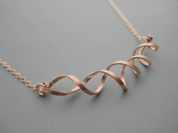 Double Helix DNA Geometric Necklace