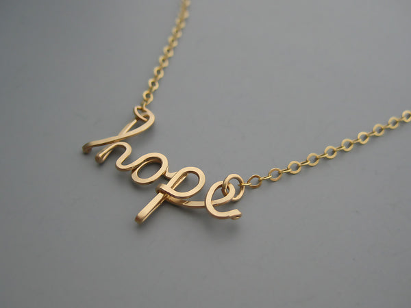 Hope Word Necklace