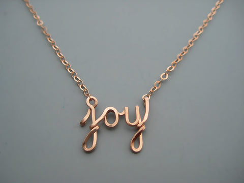 Joy Word Necklace
