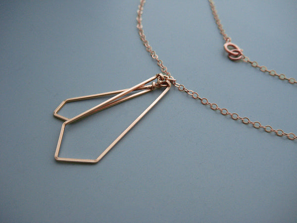 Linked Arrow Art Deco Necklace