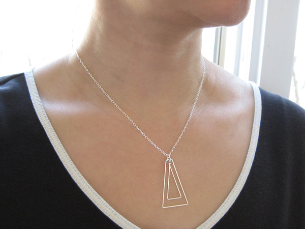 Linked Up Triangle Art Deco Necklace