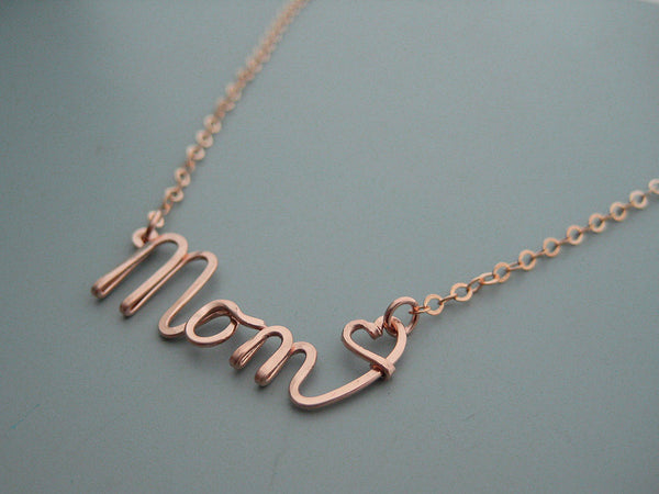 Mom Word Necklace