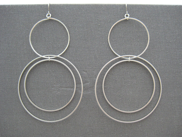Large Multi Hoop Orbital Earrings