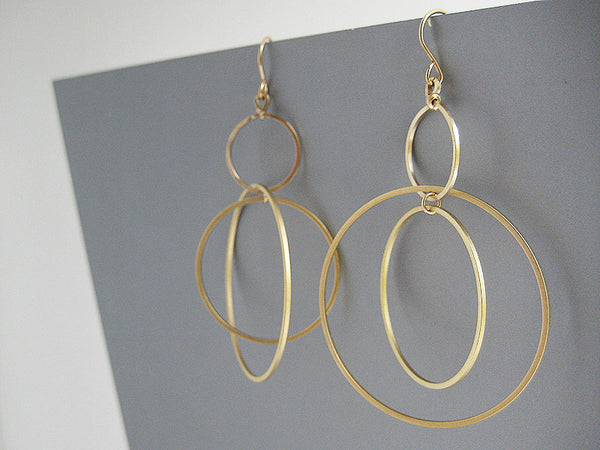 Multi Hoop Orbital Earrings