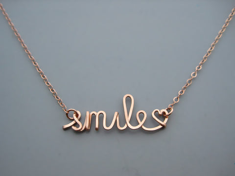 Smile Word Necklace