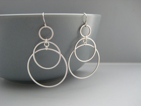 Small Sunrise Hoop Earrings