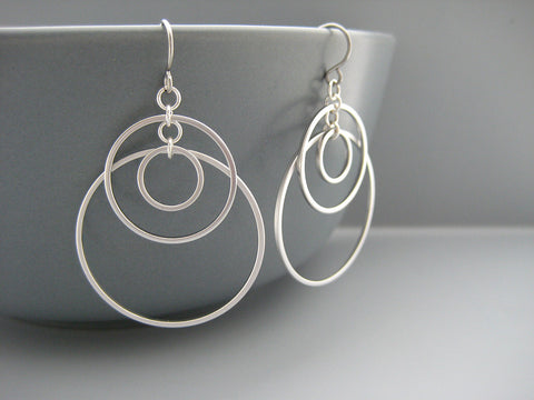 Small Sunset Hoop Earrings