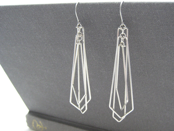 Tiered Arrow Art Deco Earrings