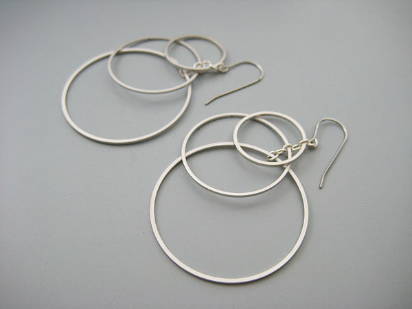 Tiered Circle Hoop Earrings