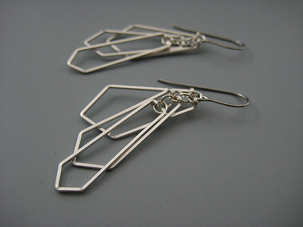 Tiered Fan Art Deco Earrings