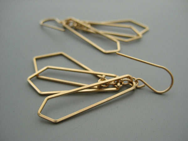 Tiered Kite Art Deco Earrings