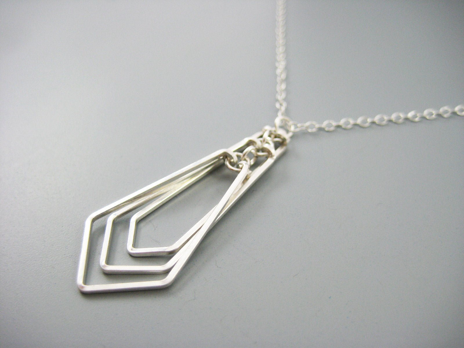 Tiered Kite Art Deco Necklace