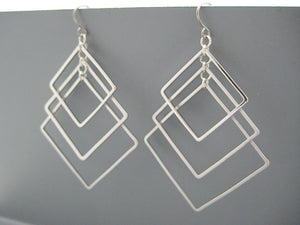 Tiered Square Art Deco Earrings