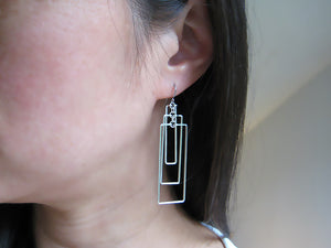Tiered Tower Art Deco Earrings