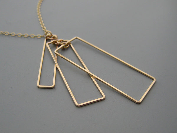 Tiered Tower Art Deco Necklace
