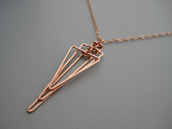 Small Tiered Triangle Art Deco Necklace