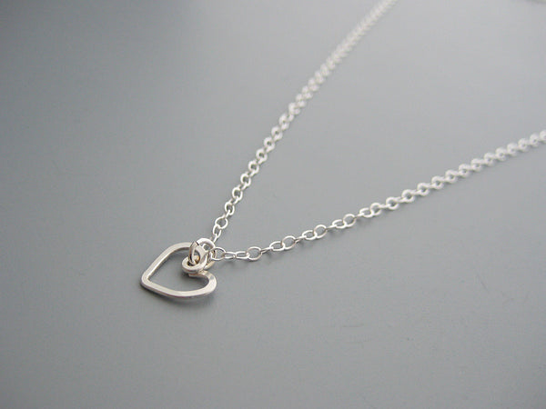 Open Heart Symbol Necklace