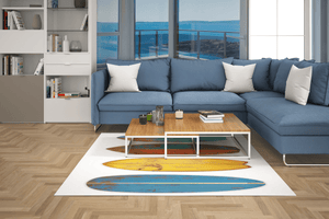 Tapis Vinyle - Multiples Planches de surf