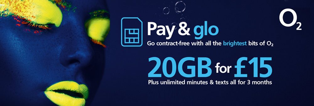 20GB and UNLIMITED Minutes and Texts for £15 until 15 January 2020