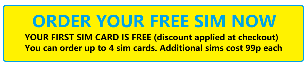 Order your free sim now at 1stmobile.co.uk