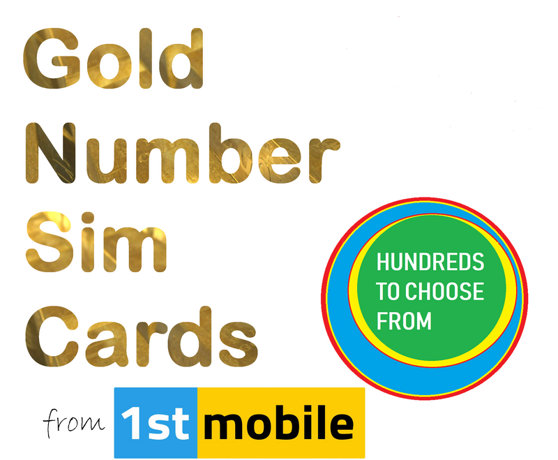 O2 Pay As You Go sim cards - CHOOSE YOUR OWN GOLD NUMBER - List B