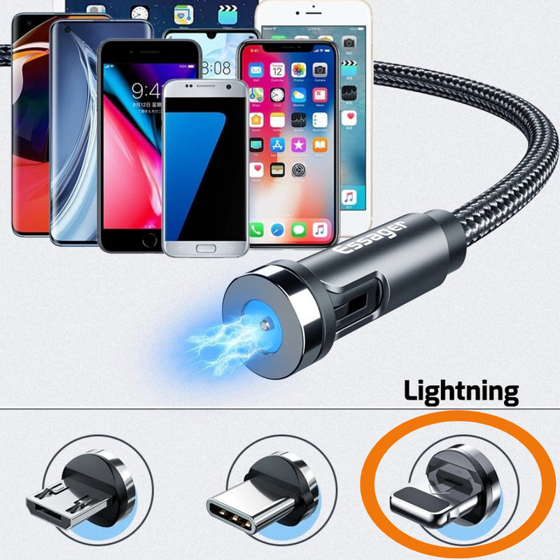 USB strong cable with detachable and interchangeable 180 degree adjustable plug tips
