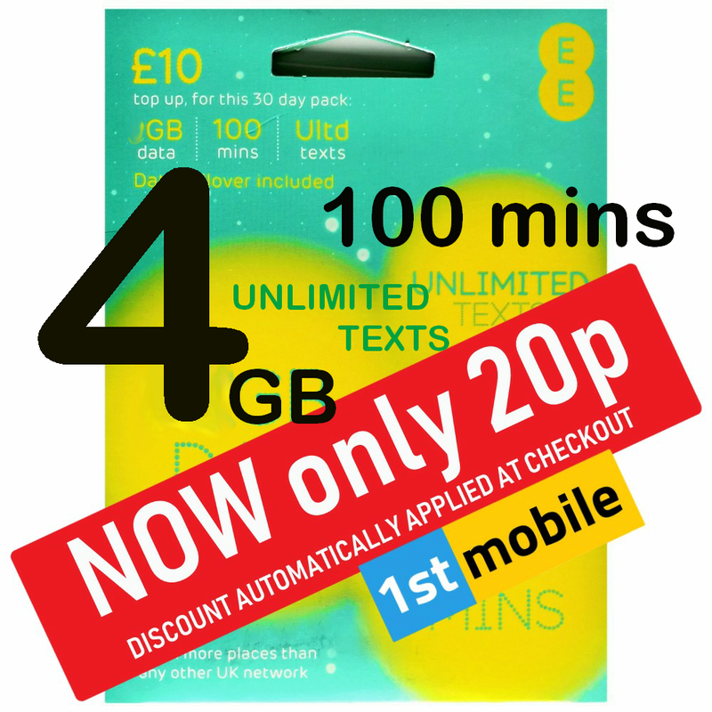 EE Pay As You Go sim cards - CHOOSE YOUR OWN GOLD NUMBER - List E6