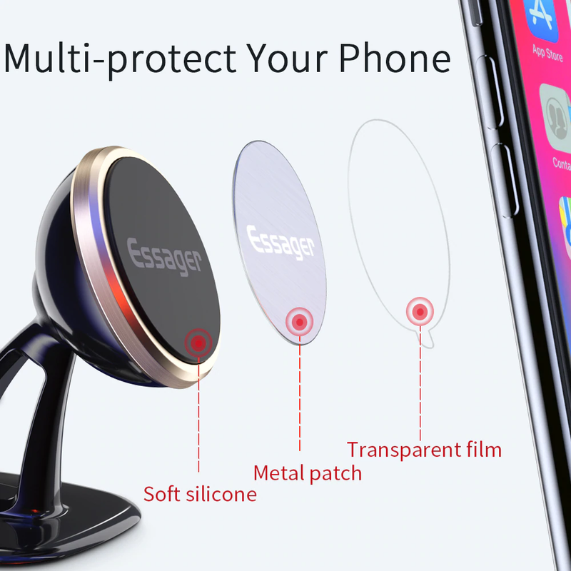 ESSAGER Magnetic Car Phone Holder - Round version