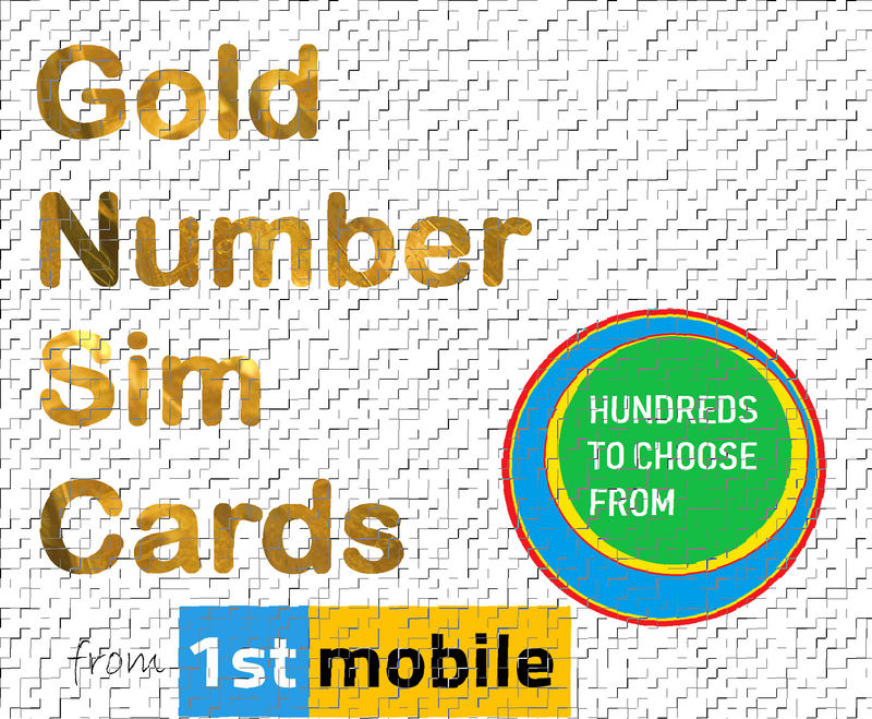 EE Pay As You Go sim cards - CHOOSE YOUR OWN GOLD NUMBER (List U)