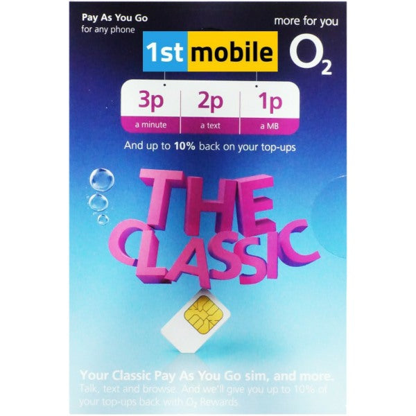 O2 Classic Pay As You Go sim cards - ALMOST GONE!