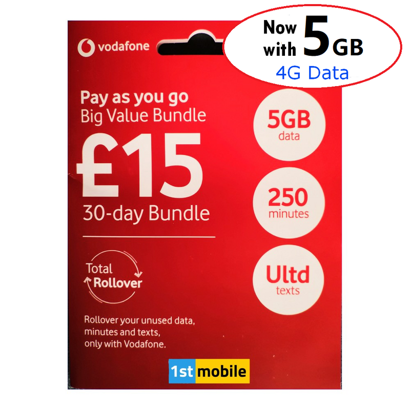 Vodafone Pay As You Go sim cards - CHOOSE YOUR OWN GOLD VIP NUMBER - List V2
