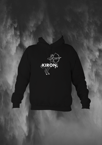 kiron gym hood - black