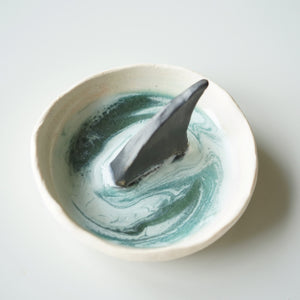 Baby Sharkfin Dish in coral